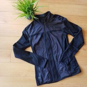 Fabletics Black Zip Up Work Out Jacket